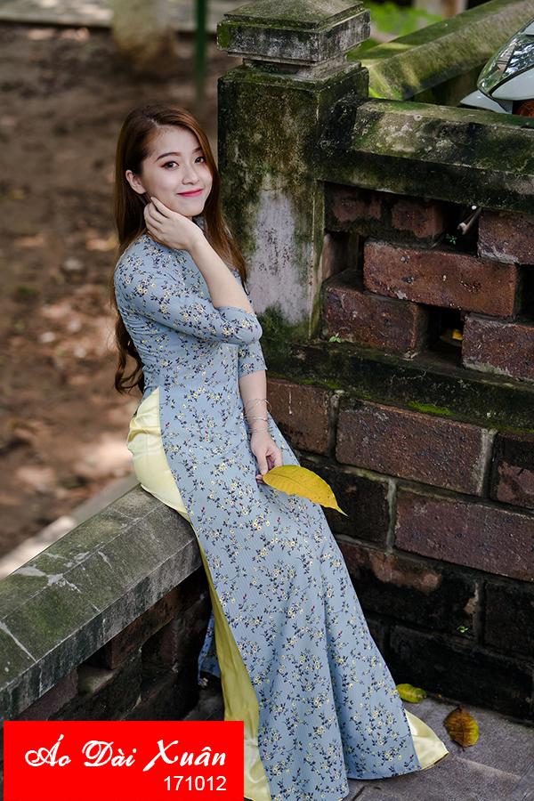 áo dài hoa nhí - 171012