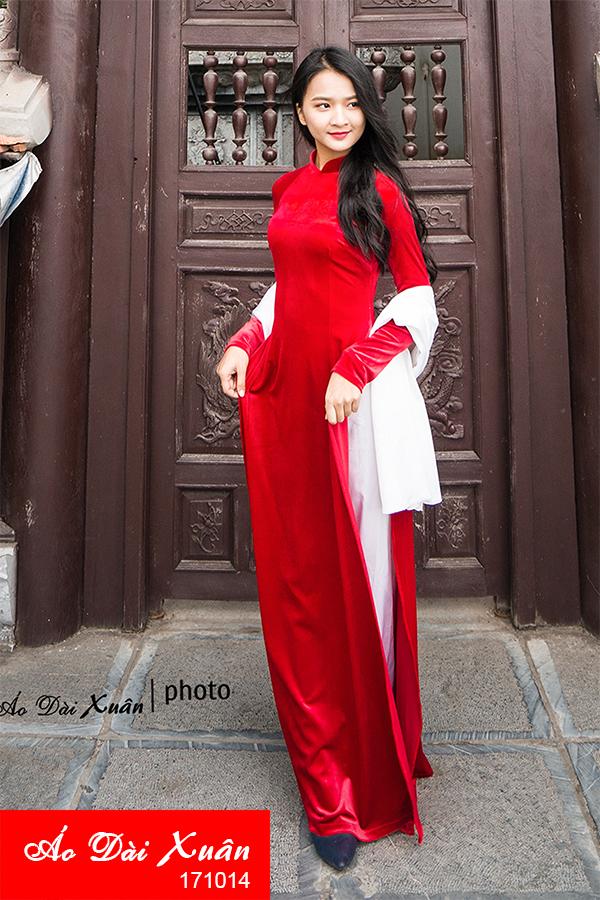 áo dài nhung - 171214