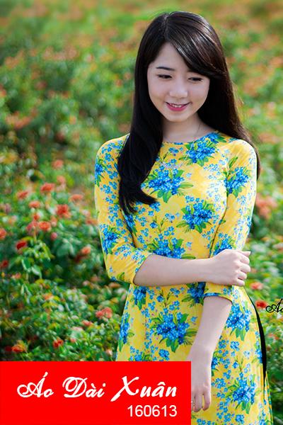 áo dài hoa nhí-160613