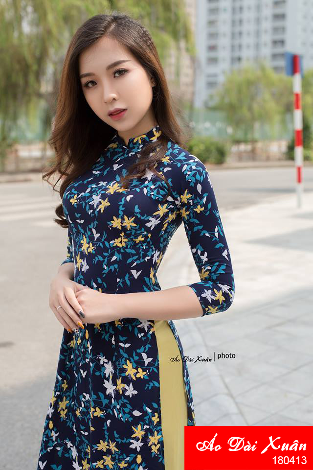 áo dài hoa nhí - 180413