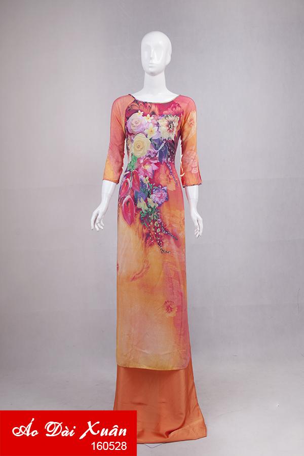 áo dài lanh - 160528
